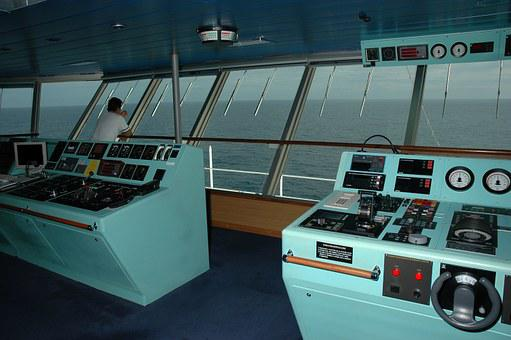 Ship, Command Deck, Captain, Marine, Ocean, Navigation