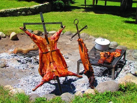 Barbecue, Bbq, Argentina, Meat, Cooking, Fire, Food