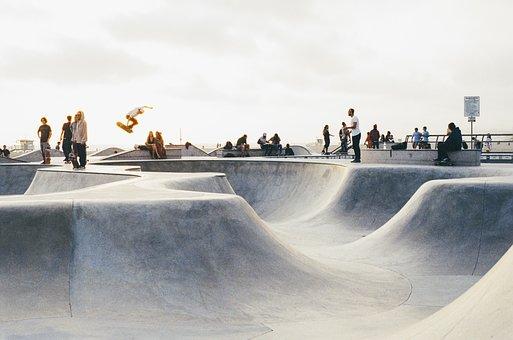 Skatepark, Skateboarding, Skateboard, Extreme, Young