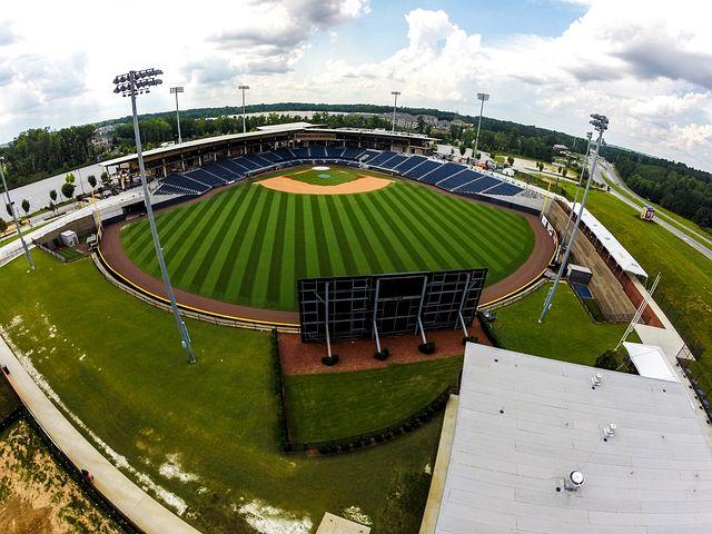 Baseball, Field, Aerial, Drone, Wide Angle, Horizontal