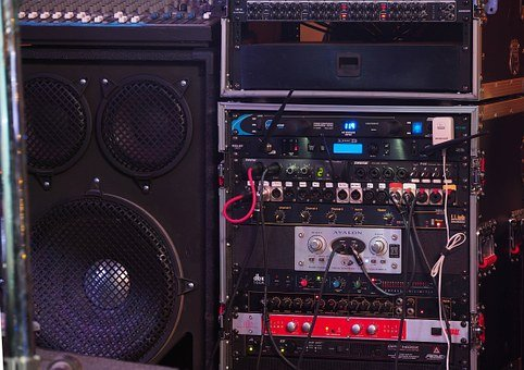 Bass, Technology, Music, Concert, Audio, Knobs, Sound