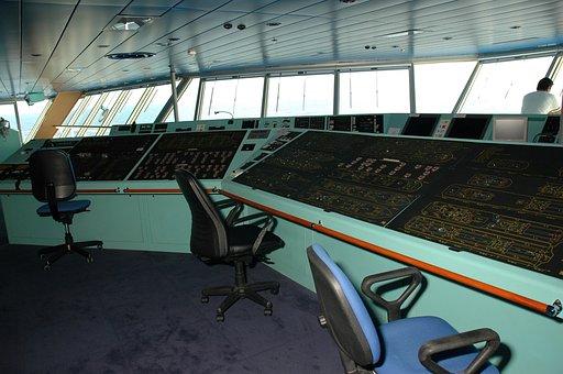 Ship, Command Deck, Captain, Marine, Ocean, Navigation