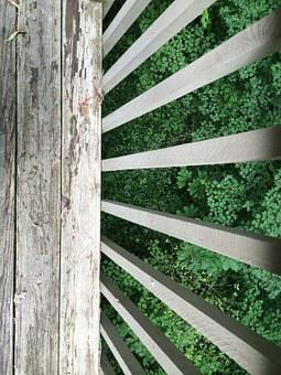 Railing, Deck, View, Exterior, Wooden, Porch, Outdoor