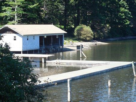 Boathouse, Nature, Water, Forest, Outdoor, Lake