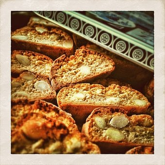 Biscotti, Pastries, Sweet Biscuits, Biscuits On Plate