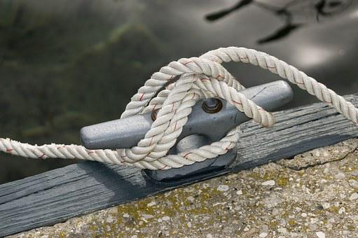Rope, Cleat, Dock, Knot, Pier, Mooring, Tie, Strong