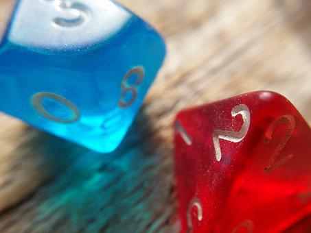 Dice, Dungeons And Dragons, Game, Playing, Rpg, D4, D10