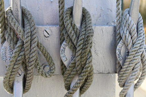 Knots, Sailing, Cleat, Slip, Overhand, Boat, Flag, Pole