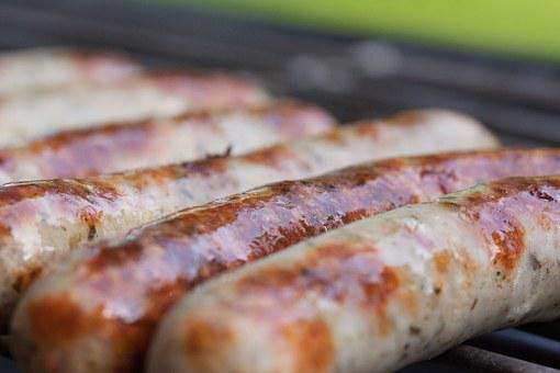 Sausage, Bratwurst, Sausages, Barbecue, Grill, Heat