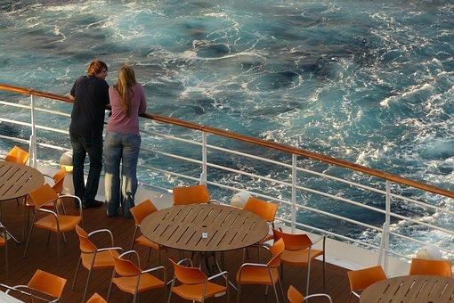 Pair, Human, Cruise, Ship, Cruise Ship, Deck, Railing