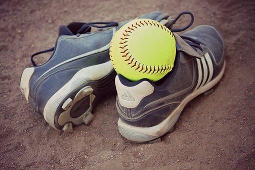 Softball, Cleats, Sports, Seam, Recreation, Field