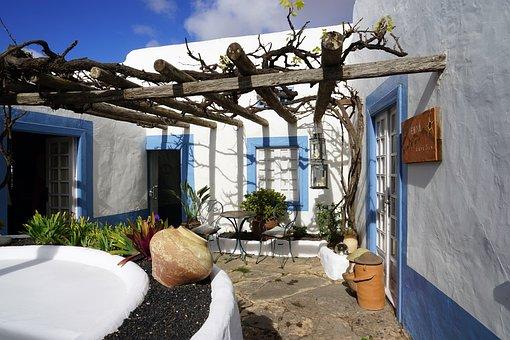 Backyard, Seating Area, Cozy, Spain, Rest, Blue