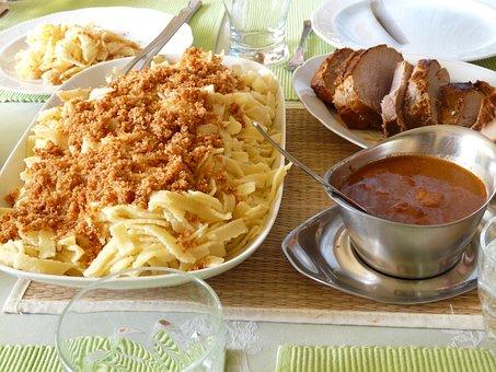 Sunday Roast, Roast Pork, Spätzle, Sauce, Swabian Court