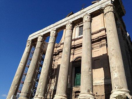 Colonnade, Excavations, Rome, Arhitecture, Ancient
