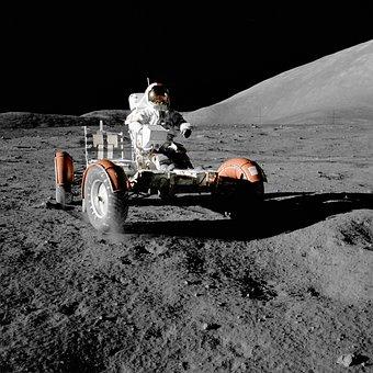 Moon Vehicle, Astronaut, Space Travel, Moon Buggy