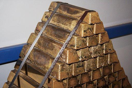Brass, Block Stack, Bars, Shiny, Special Cast Brass