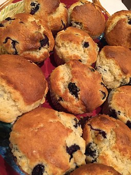 Muffin, Food, Blueberry, Delicious, Baking, Fruit