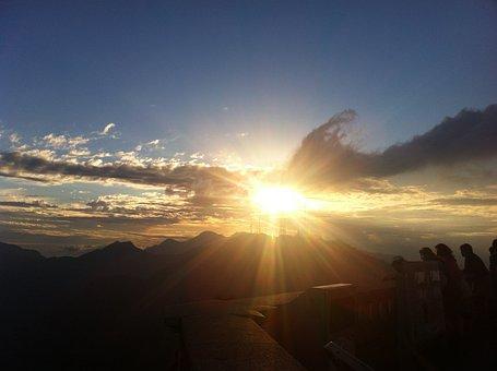 Rio De Janeiro, Sunset, Brazil, Corcovado