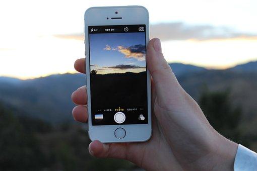 Sunset, Iphone, Phone, Camera Phone, Technology