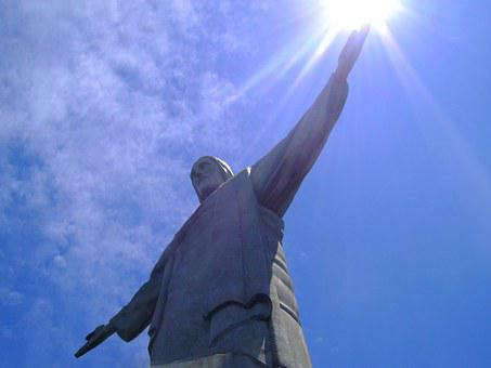 Rio De Janeiro, Christ, Sol, Corcovado