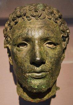 Temple Of Apollo, Cyrene, Libya, Bronze, Head, Man