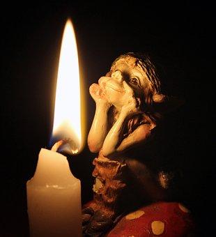 Elf, Candle, Light, Candle Wax, Wax, Pixies