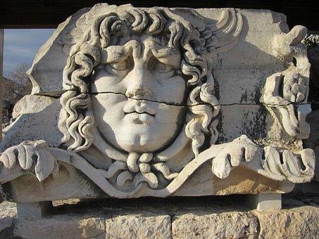 Apollo Temple, Didim, Didyma, Sculpture, Face, Landmark