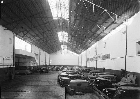 Vintage, Car, Factory, Automobile, Industrial