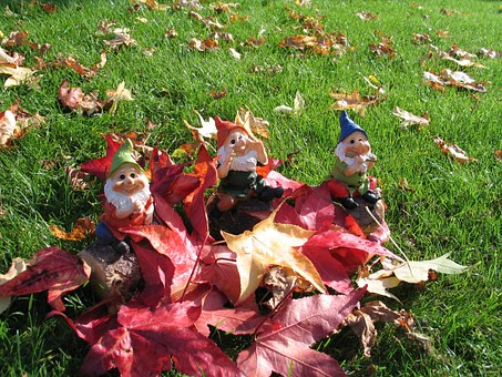 Gnome, Dwarf, Nature, Leaf, Garden, Leaves, Decoration