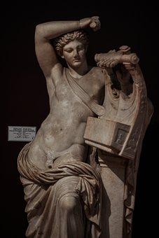 Statue, Image, Apollo, God, Mythology