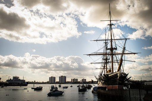Ship, Portsmouth, Harbour, Hampshire, Hms, Warship