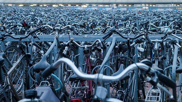 Bicycle Rack, Bicycles, Bikes, Equipment, Iron, Many