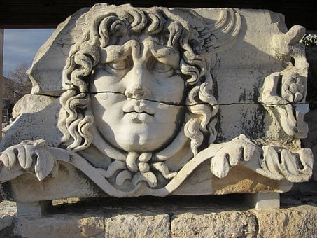 Apollo Temple, Didim, Didyma, Sculpture, Face, Landmark