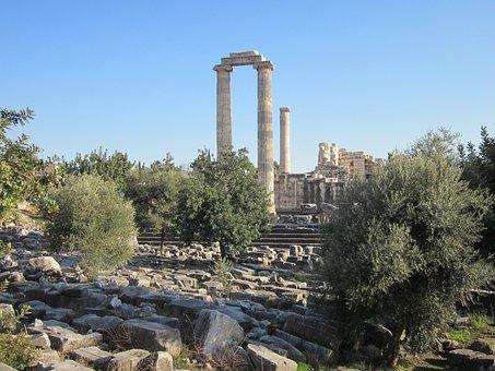Apollo Temple, Didim, Didyma, Landmark, Culture, Ruins