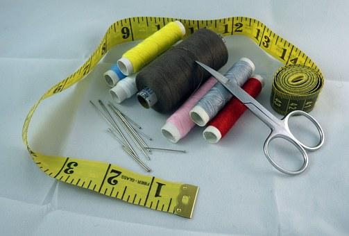 Sew, Sewing, Sewing Set, Scissors, Needle, Pin, Thread
