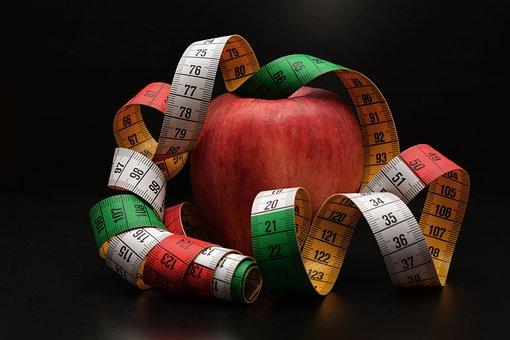 Apple, Tape Measure, Remove, Fruit, Diet