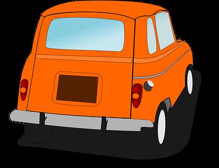 Car, French Car, Orange Car, Renault 4, Transportation