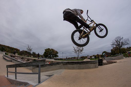 Bikes, Sky, Bmx, Outside, Person, Sun, Carry, Sport