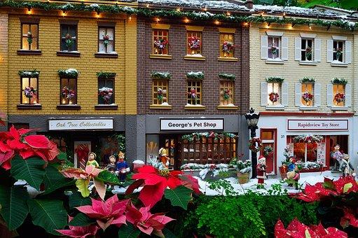 Miniature, Stores, Building, Model, Architecture, Store