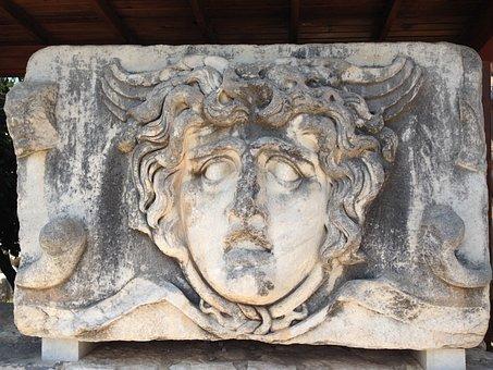 Medusa, Didyma, Temple Of Apollo, Ancient, Apollo