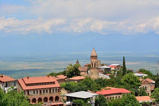 Georgia, Signagi, Kakheti, Valley, Alazani, Town