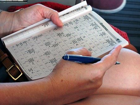 Crossword Puzzle, Game, Write, Playing, Writing, Hand