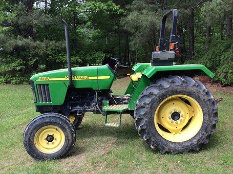John Deere, Tractor, Farm, Rural, Agricultural