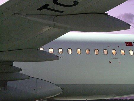 Aircraft Window, Aircraft, Window, Wing