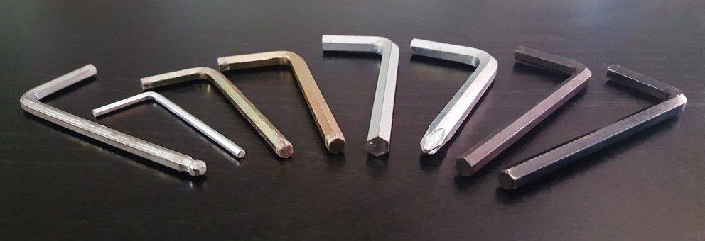 Allen Key, Allen Wrench, Tools, Hexagon, Fixing