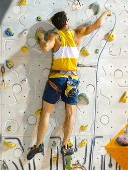 Backup, Man, Climber, Athletes, The Rope