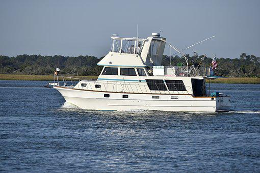 Boat For Sale, Yacht, Boat, Cruising On River
