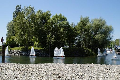 Sailing School, Dinghy, Exercise, Sail, Shuttle, Boats