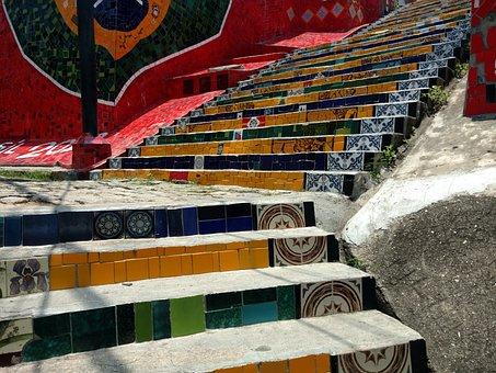 Brazil, Brasil, Steps, Escadaria Selaron, South