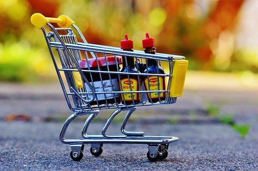 Shopping Cart, Shopping, Purchasing, Candy, Trolley